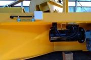 Произведён монтаж электрооборудования мостового крана с поворотной тележкой г/п-12,5+12,5т.